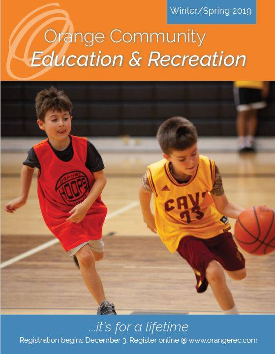 Cover Photo of Winter Spring Activities Guide featuring Boys Playing Basketball