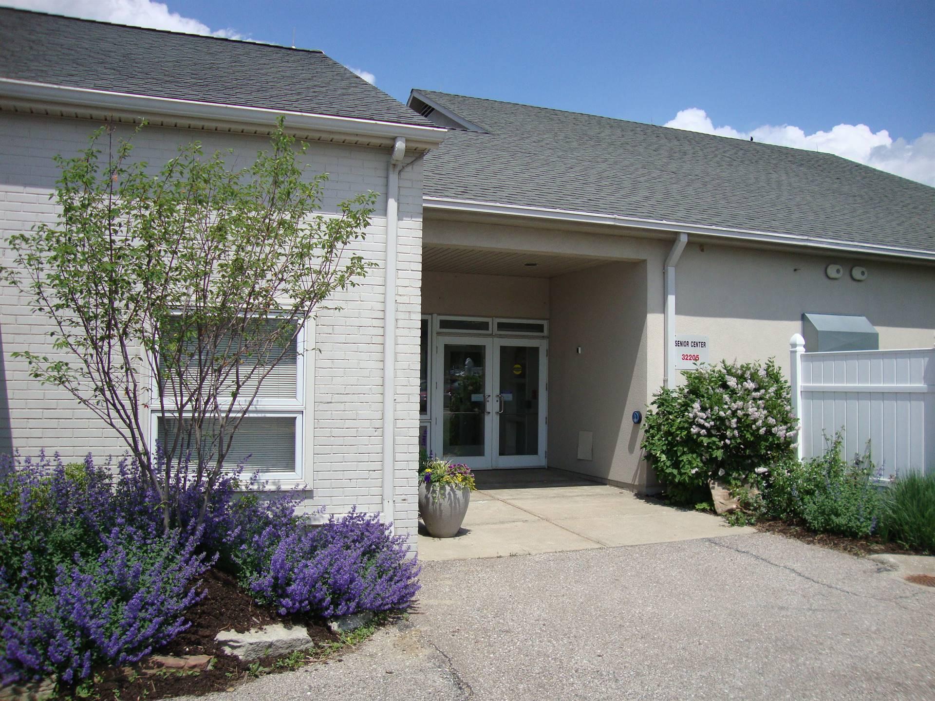 Entrance to Orange Senior Center